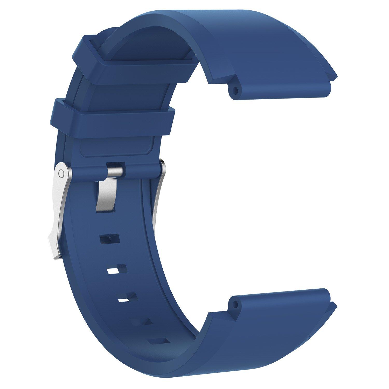 Feskio - Correa de repuesto para Sony SmartWatch 2 SW2, correa de repuesto para Sony Smartwatch 2 SW2 bandas de repuesto ajustable de silicona ...