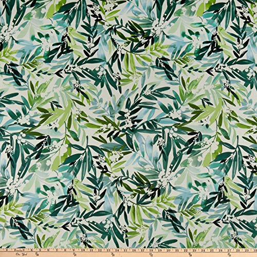 Cloud 9 Fabrics Organic Field & Sky Lush Mimosa Cotton Sateen Green/White Fabric by the Yard