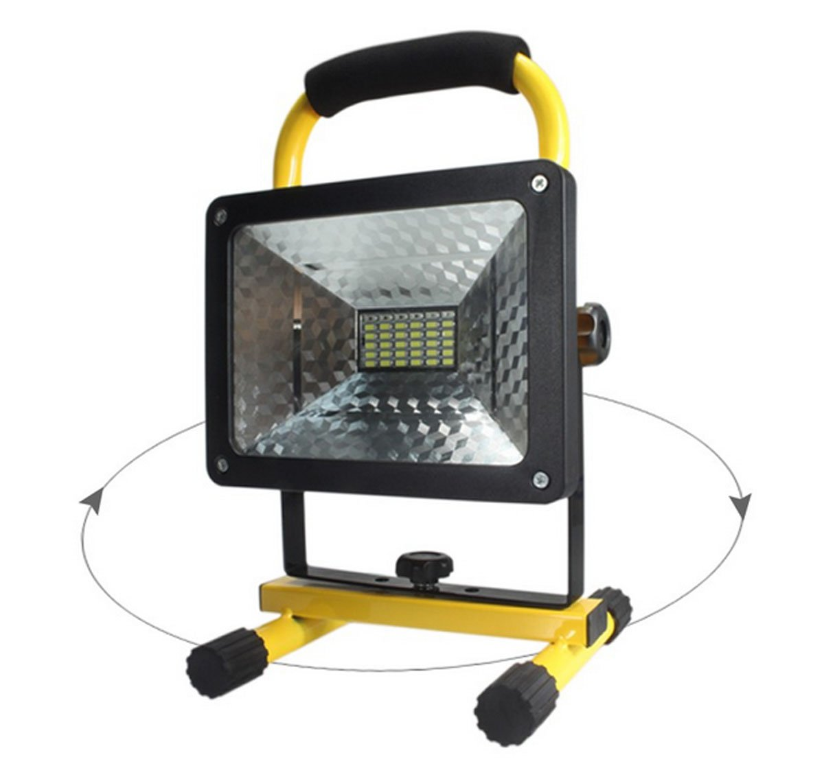 2400 lumens, 50 Watts, 36 LED. Heavy Duty LED Flood/Shop Light, Portable Rechargeable Cordless LED Work Light Flood Light, Durable Emergency Light