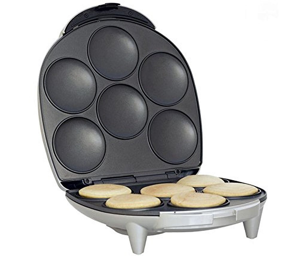 Electric Arepa Grill Maker With Nonstick Surface Dough Press 6 Authentic Arepas in Minutes 1200 Watts