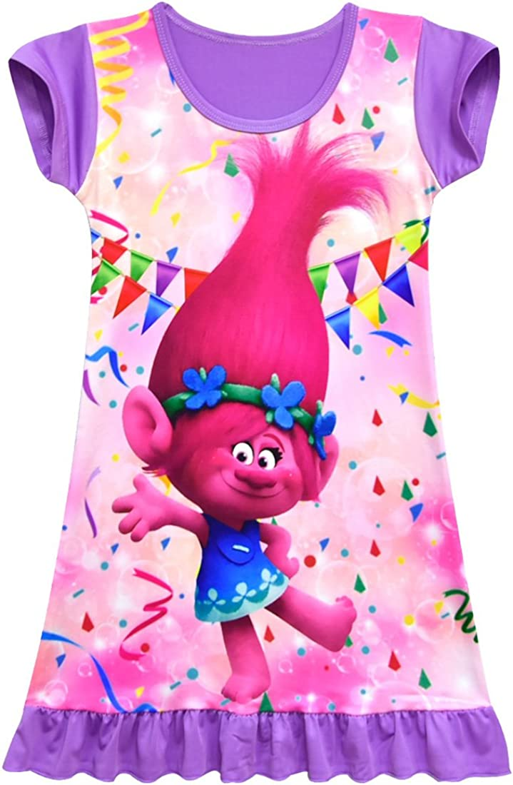 Amazon.com: ZHBNN Trolls vestido de princesa para niñas ...