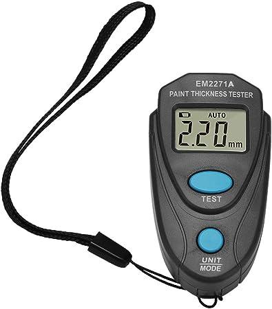Garosa Spessimetro per Vernice Auto Misuratore di Spessore della Vernice 0~1,25 mm Misuratore di Misuratore Professionale Digitale Strumenti Tester di Rivestimento Digitale con LCD Retroilluminato