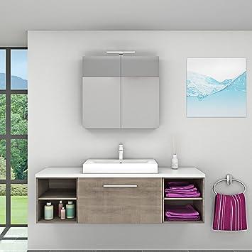 Energiebox Küche | Amazon De Badmobel Set City 302 V1 Eiche Hell Badezimmermobel