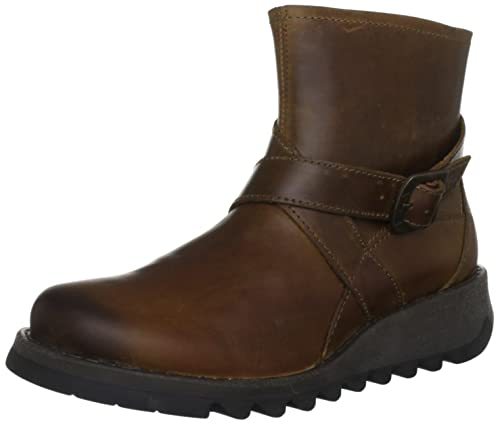 Fly London Fina - Botas para mujer, Dark Brown/Camel 1, EU 37 (UK 4)