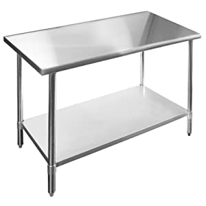 KPS Commercial Stainless Steel Work Prep Table 24 x 24 - NSF