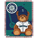 MLB Seattle Mariners Field Woven Jacquard Baby Throw Blanket, 36x46-Inch
