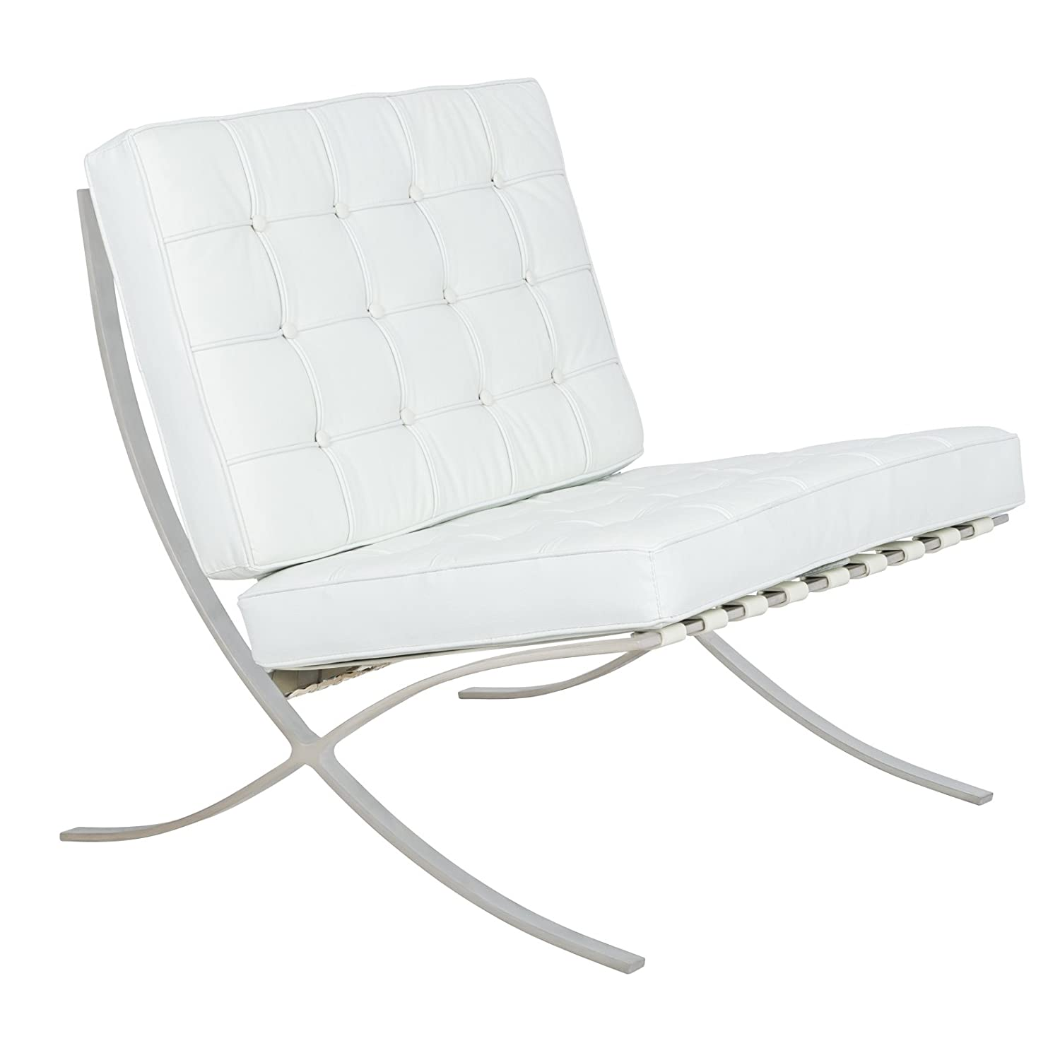 white barcelona style chair. modren style white barcelona style chair amazoncom leisuremod bellefonte with white  sc 1 st  Dogum.co : barcelona white chair - Cheerinfomania.Com