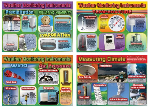 Carson Dellosa Mark Twain Weather and Climate Monitoring Instruments Bulletin Board Set (410049)