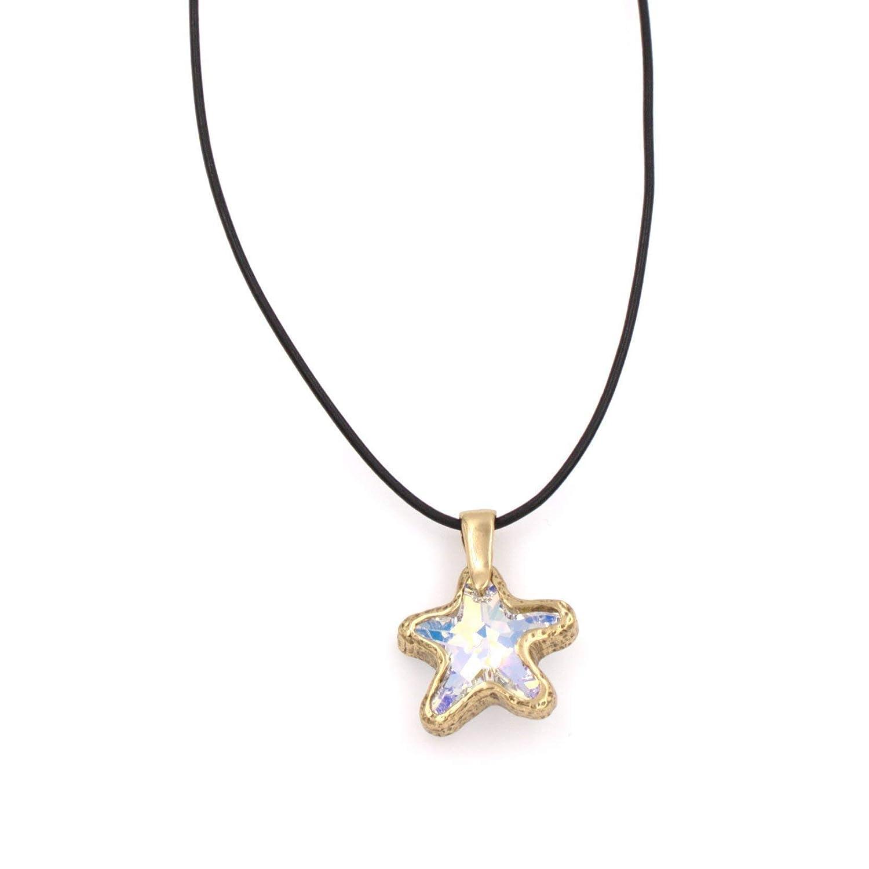 213a430b3a3bb Amazon.com: Swarovski Starfish Pendant Necklace - Aurora Borealis ...