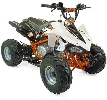 Quad infantil adolescente 150 cm 110 cc 7 pulgadas Naranja y blanco montado: Amazon.es: Coche y moto