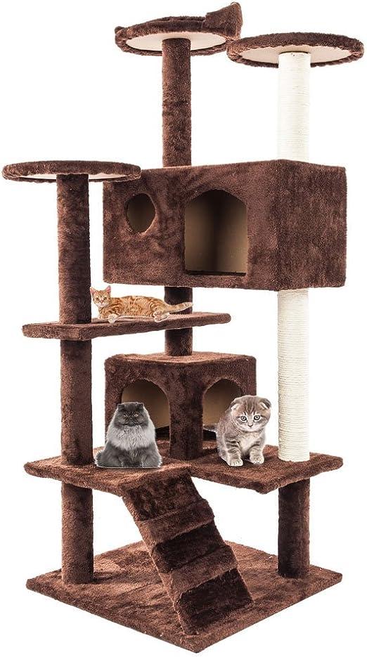 AKHAK Torre de árbol para Gatos, multinivel, Cuerda de sisal para ...