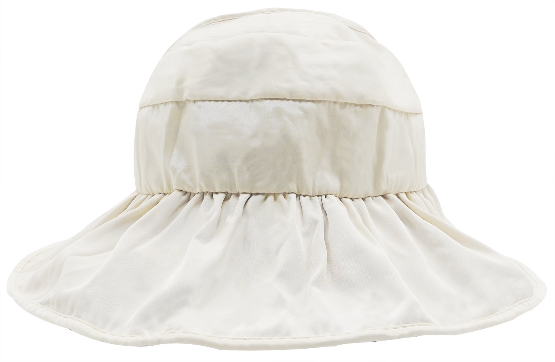Bienvenu Kids Girls Sun Hat Summer Beach Hat Wide Brim Adjustable Reversible Cap,Style2_Beige