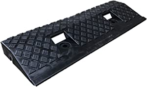 Small Rampss, Lightweight Plastic Threshold Rampss Patio Garden Step Mat Scooter Bicycle Safety Rampss Size:49.5154CM(Size:49.5154CM,Color:Black)