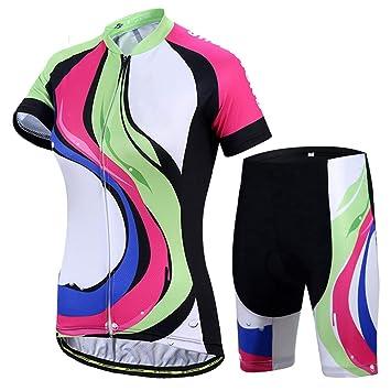 Maillot Ciclismo Mujer, 3D Gel Pad Transpirable Personalidad ...