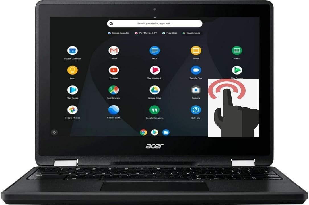 "Acer Spin 11 2-in-1 Convertible 11.6"" HD Touchscreen WLED-Backlit Chromebook, Intel Celeron N3350 Processor, 4GB Memory, 32GB eMMC, Bluetooth, WiFi, Webcam, Google Chrome OS, Obsidian Black (Renewed)"