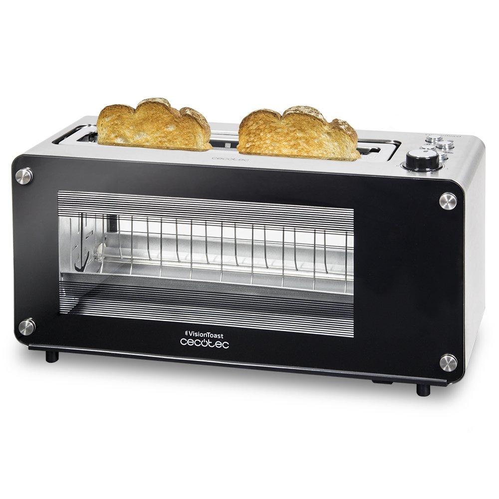Cecotec VisionToast, Tostadora ventanas de cristal. Ranura XL. , 7 Niveles de tostado, 3 Funciones y 1260 W: Cecotec: Amazon.es: Hogar