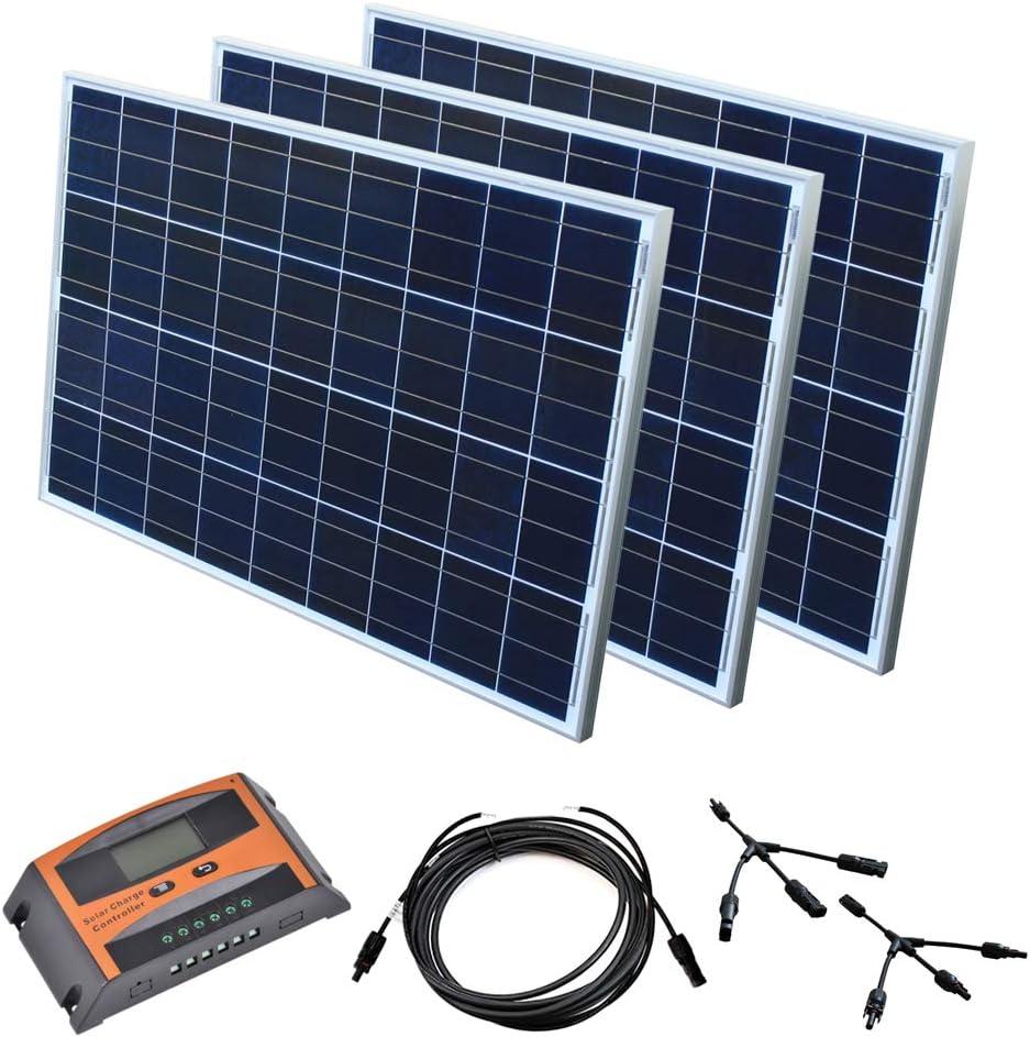 Solar Set 12 V Solaranlage Solarkit PV Inselanlage Wohnmobil Solarmodul Laderegler Wattzahl:100 W