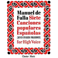de Falla: 7 Canciones Populares Espanolas: For High