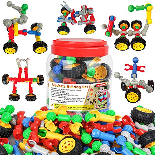 Meland STEM Toys for Boys Girls - Construction Engineering Building Set STEM Learning Toys Gift for Kids Age 3 4 5 6 7 and More