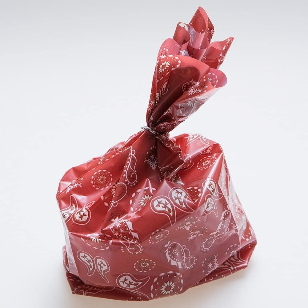 Fun Express Red Western Bandana Cellophane Party Treat Bags - (36 Pack)