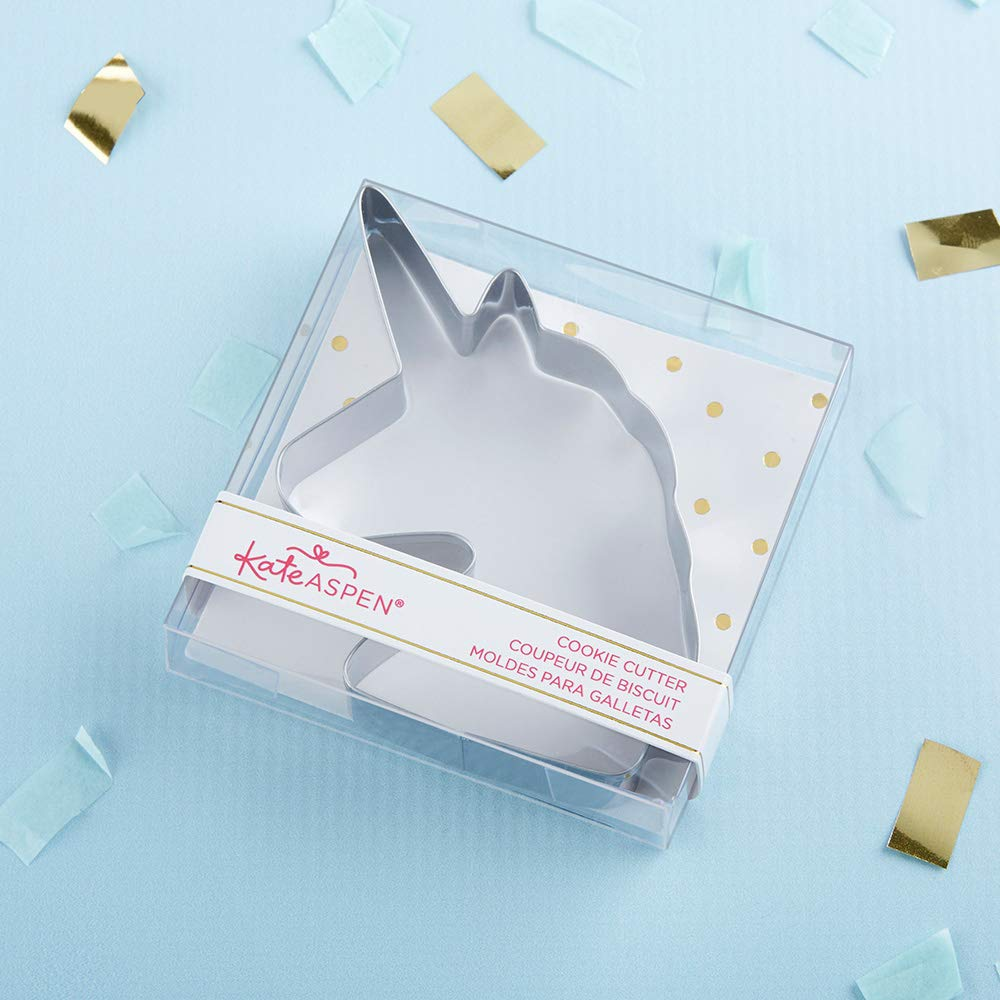 Amazon.com: Kate Aspen 14134NA Unicorn, Party Favor or Gift cookie cutter 0 silver: Kitchen & Dining