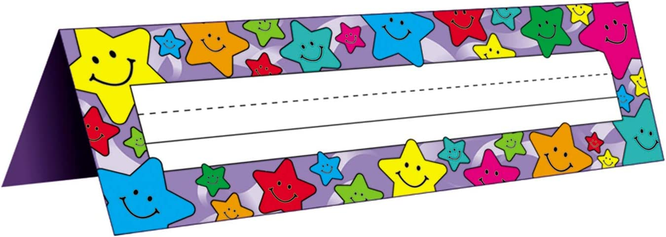 Teacher Created Resources Happy Stars Name Plates, Tented (1941)