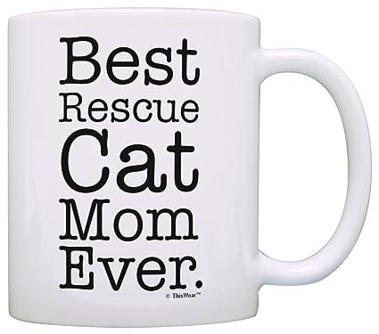 amazon com rescue cat gifts best rescue cat mom ever cat rescue