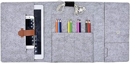 funyu estuche Fieltro estuche plegable Lápiz bolsa Gran Capacidad estuche adultos o estudiantes – Estuche con 10 compartimentos sintética para Escuela Oficina Viajes M: Amazon.es: Oficina y papelería