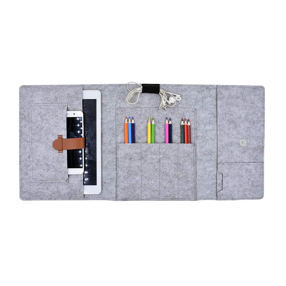 Funyu Federmäppchen Filz Mäppchen Organizer  Faltbar Stifteetui Mini iPad Smartphone iPhone Hülle Schutz Tasche Handytasche für Erwachsene Studenten