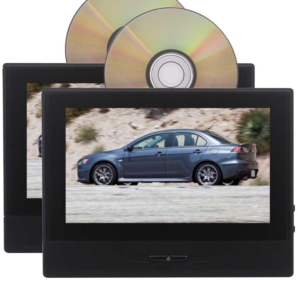 2PCSカーヘッドレストDVDプレーヤー8「」1280 * 720の画面には、リモートコントロールリムーバブル設計支援ワイヤレスIRヘッドフォン1080PのUSB / SD(ブラック)との自動CDプレーヤーを監視します B07893VT5T
