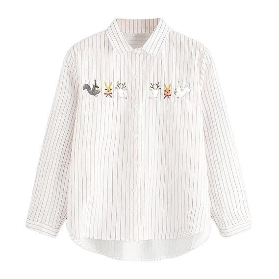 Blusas Mujer, AISHOP Casual Rayas Sudaderas Moda Elegantes Ropa en Oferta Camisetas Manga Larga Tops