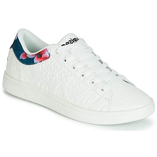 Hindi Amazon Y Zapatos Blancas Desigual Dancer Zapatillas es 6gS5q5