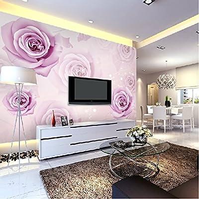 XLi-You 3D TV background wall paper wallpaper European living room romantic rose Paintings