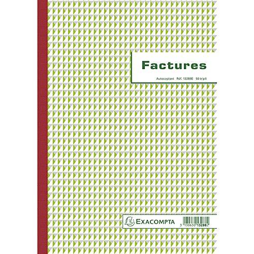 Exacompta Formato de factura comercial impreso en francés sin carbono A4