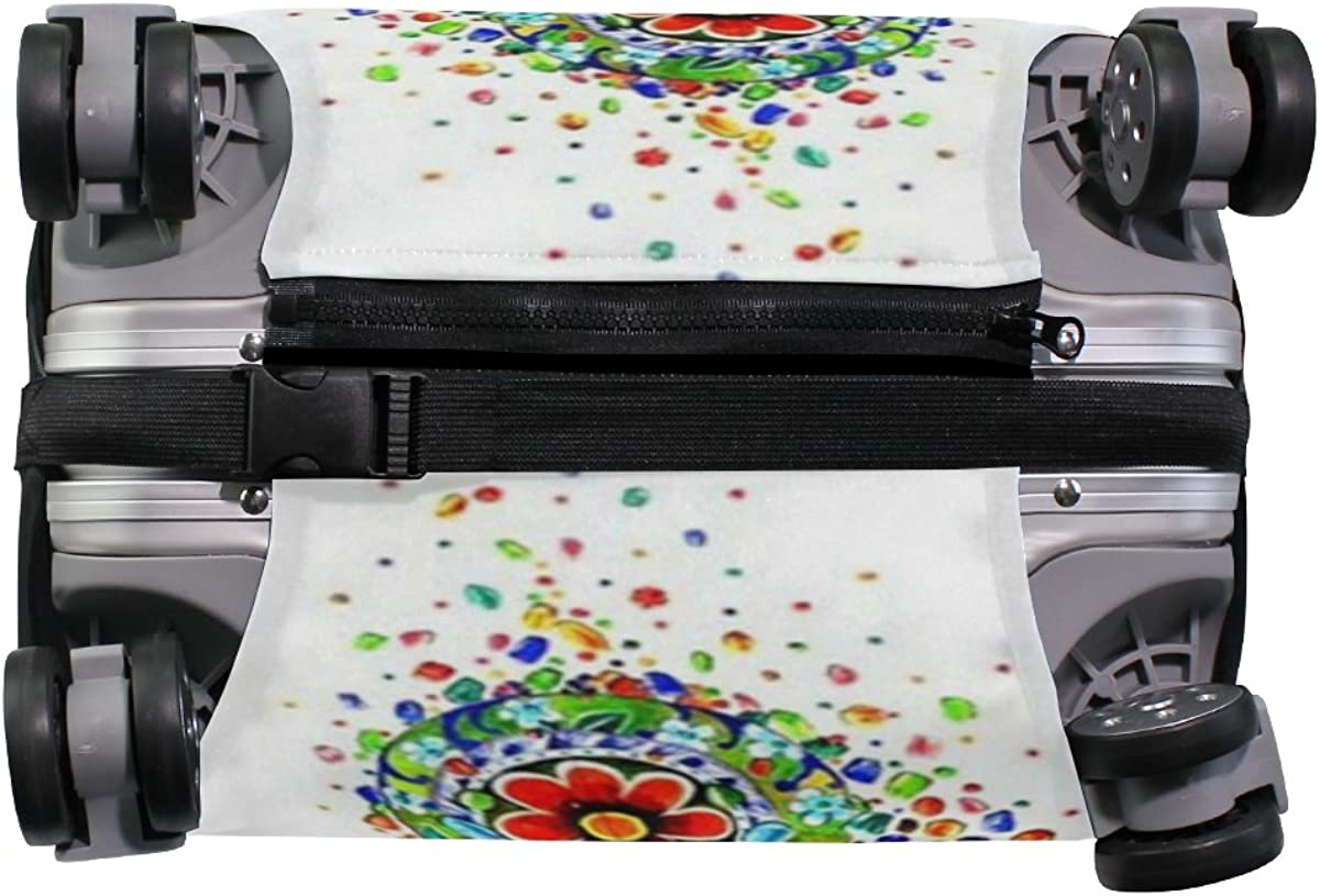 Elastic Travel Luggage Cover Fashion Girl Suitcase Protector for 18-20 Inch Luggage