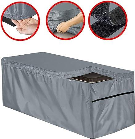 LISAWEI Al Aire Libre Patio Cubierta Taquilla Terraza Impermeable Muebles Jardín Impermeable Protector Solar Cubierta De Polvo 210D Poliéster (Color : Gray, Size : 130x60x71cm): Amazon.es: Hogar