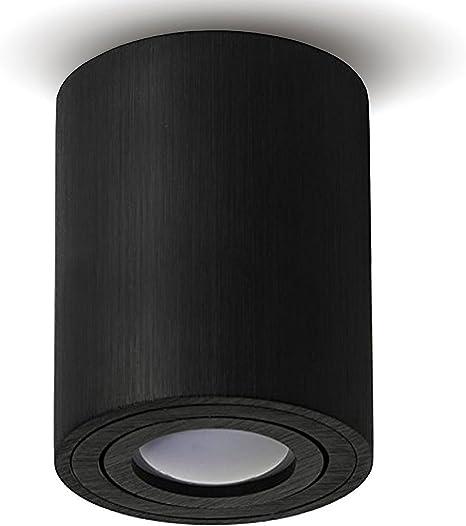 Rose Gold /& Black Surface Mount Ceiling Light Downlight GU10 Spot Square Round