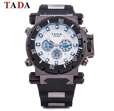 Amazon.com: Mens Analog Digital Watch, Large Kidon Stainless Steel Slim, Men Watches, Mens Relojes de Hombre, Quartz Sport Black Waterproof Face Rubber ...
