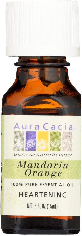 Aura Cacia 100% Pure Essential Oil Mandarin Orange - 0.5 fl oz - For Aromatherapy