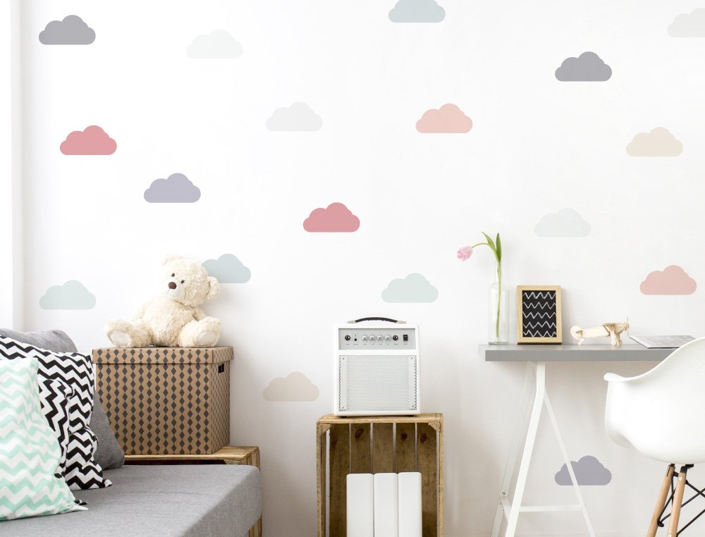 I-love-Wandtattoo WAS-10637 Kinderzimmer Wandsticker Set Wolken in ...