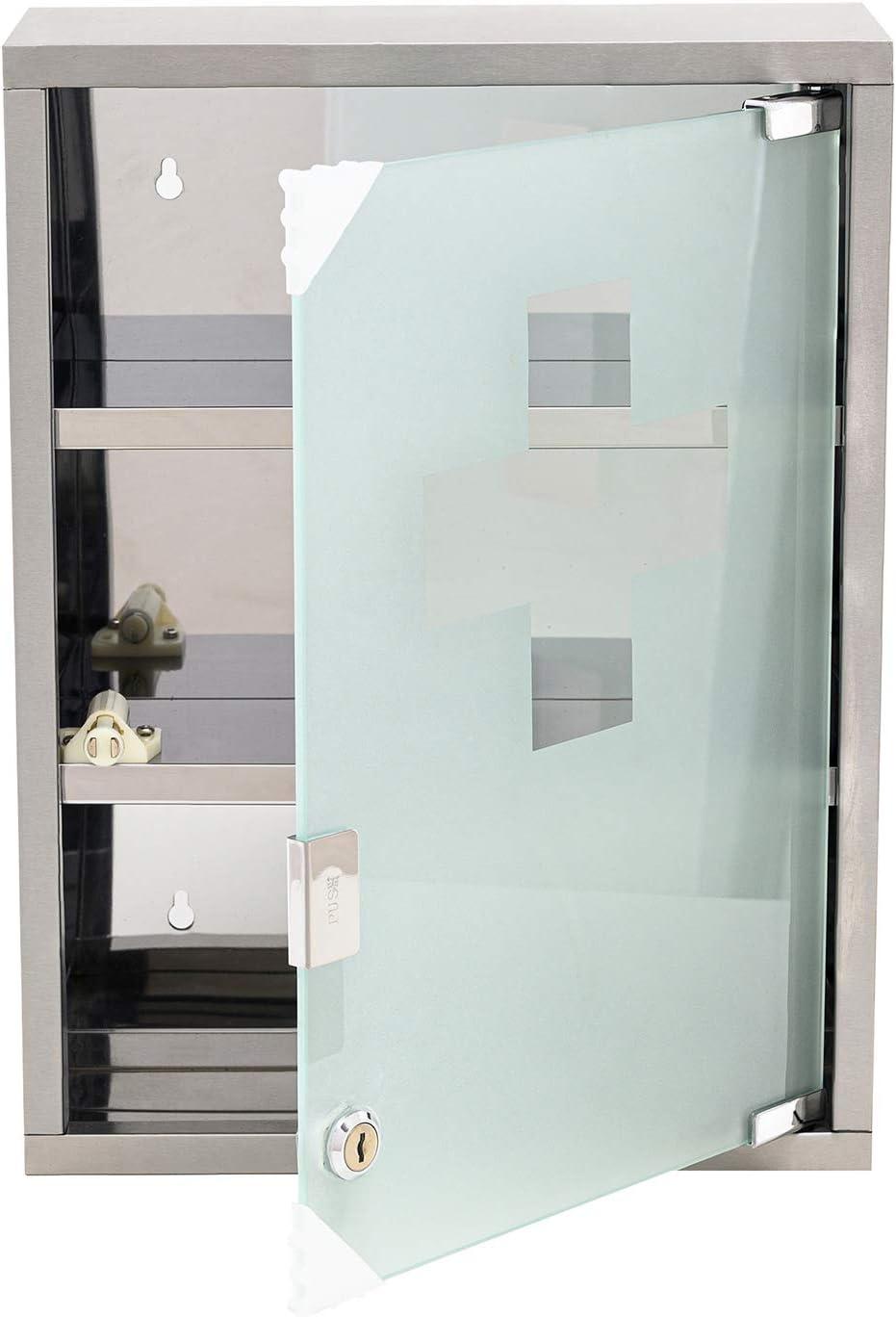 Mack - Armario botiquín de Acero Inoxidable - 3 Llaves y Material de instalación - 40 x 30 x 12 cm: Amazon.es: Hogar