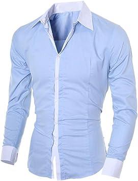 Camisas Hombre,Camisa de Hombre de Negocios Camisa de Manga Larga Casual para Hombre Camisa de Vestir Slim fit Camisa de Vaquero Blusa Tops Outwear: Amazon.es: Deportes y aire libre