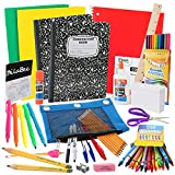 Back to School Supplies Kit for First to Third Grade Kids: The Complete Classroom Supply Bundle - Set of 20 Elementary School Essentials – Crayons, Markers, Glue, pens, Pencils, Paper & m