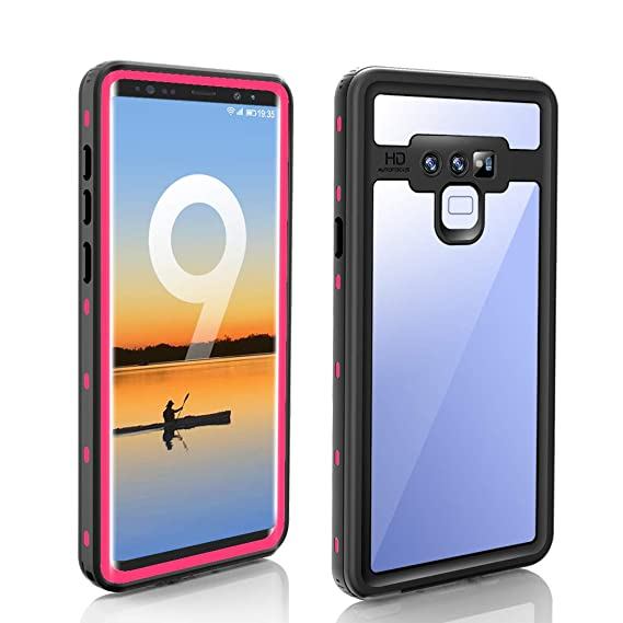 hot sale aed4d 8af5a Galaxy Note 9 Waterproof Case,Built-in Screen Protector Underwater IP68  Certified Waterproof Shockproof Full-Body Protective with Transparent Back  ...