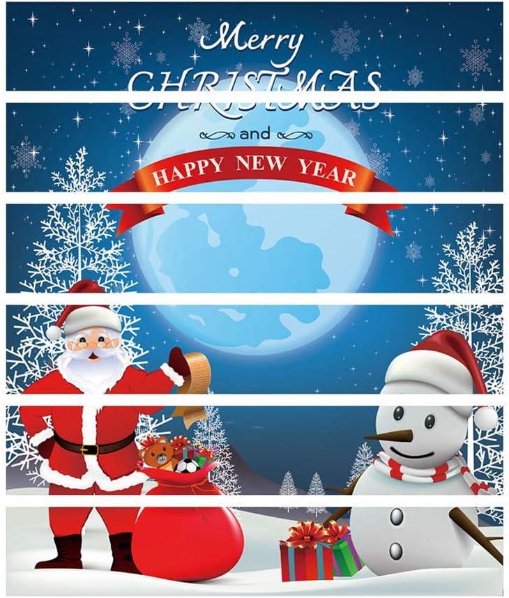 JujubeZAO - Adhesivo para Escalera, diseño de muñeco de Nieve y Papá Noel: Amazon.es: Hogar