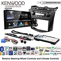 Volunteer Audio Kenwood DDX9704S Double Din Radio Install Kit with Apple Carplay Android Auto Fits 2003-2007 Honda Accord (Factory climate controls)