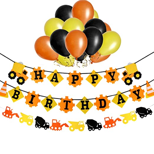 1st pancarta de feliz cumpleaños con purpurina decorations ...