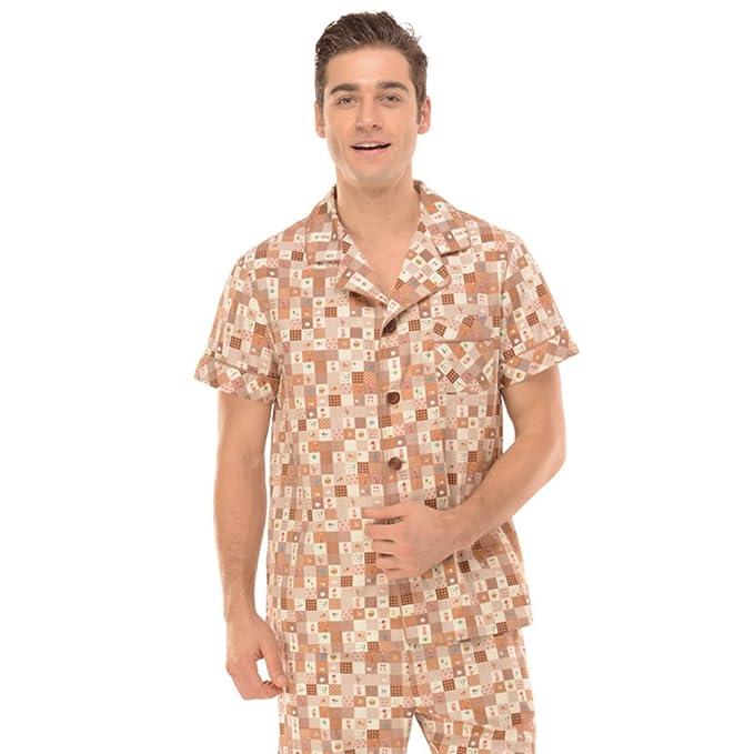 Primavera/verano pijamas de dibujos animados de los hombres/ fina ropa de manga corta pijama conjunto/ atractiva: Amazon.es: Ropa y accesorios