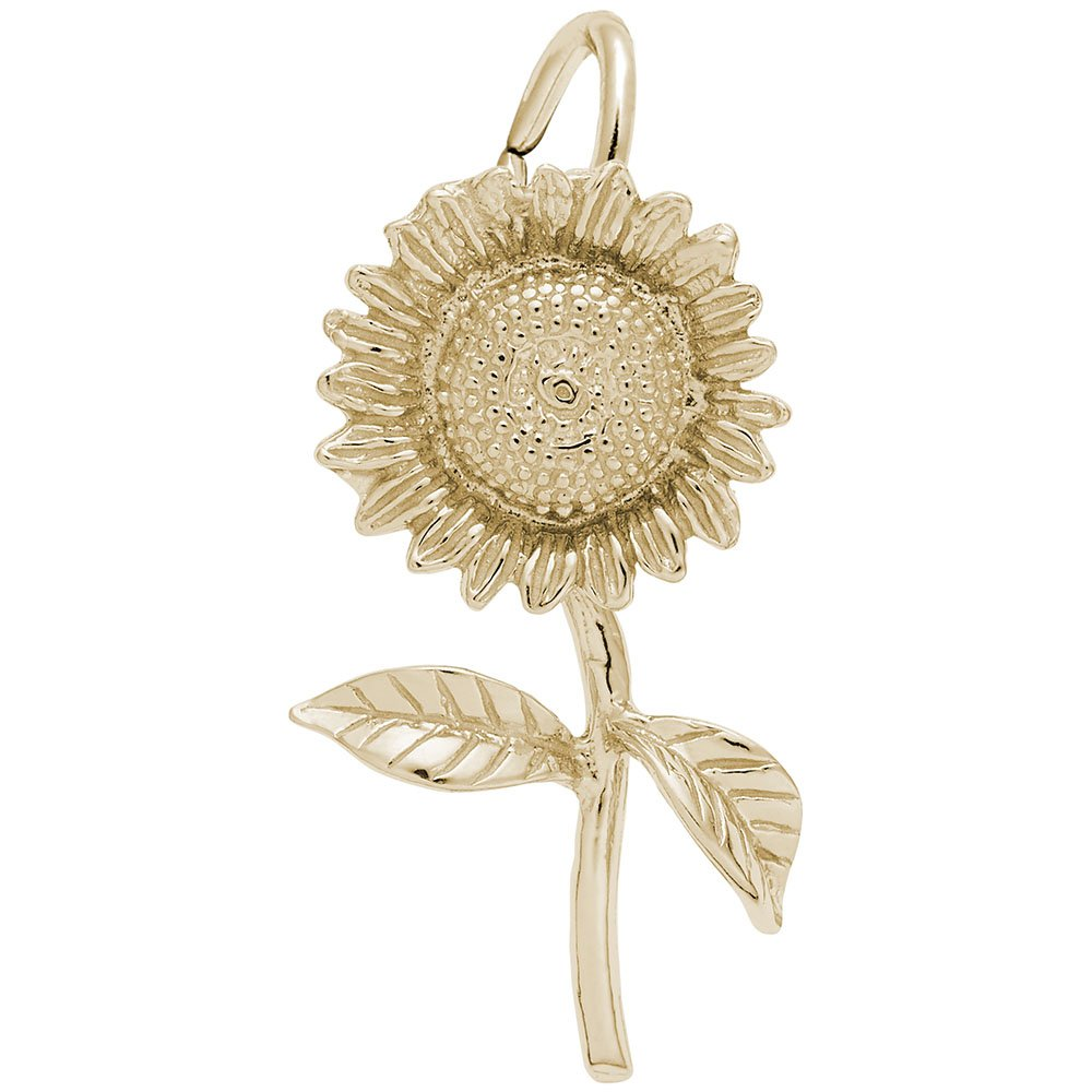 Rembrandt Charms, Sunflower, 14k Yellow Gold