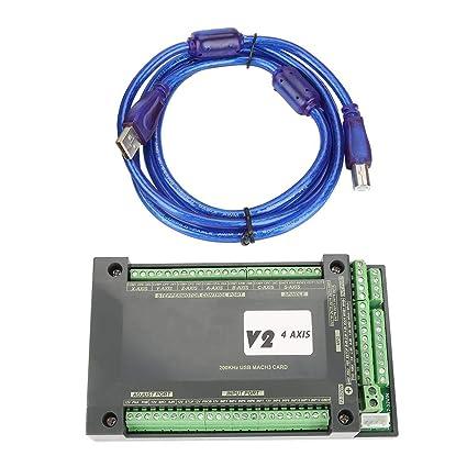 CNC Controller 3/4 Axis 200KHz NVUM Ethernet Interface Mach3 Motion